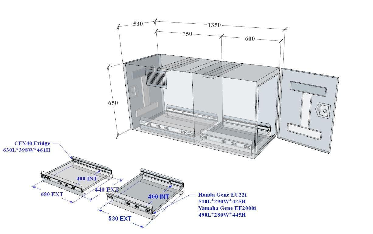 (COFS 12) MW Caravan Box Black With Two Slides-4