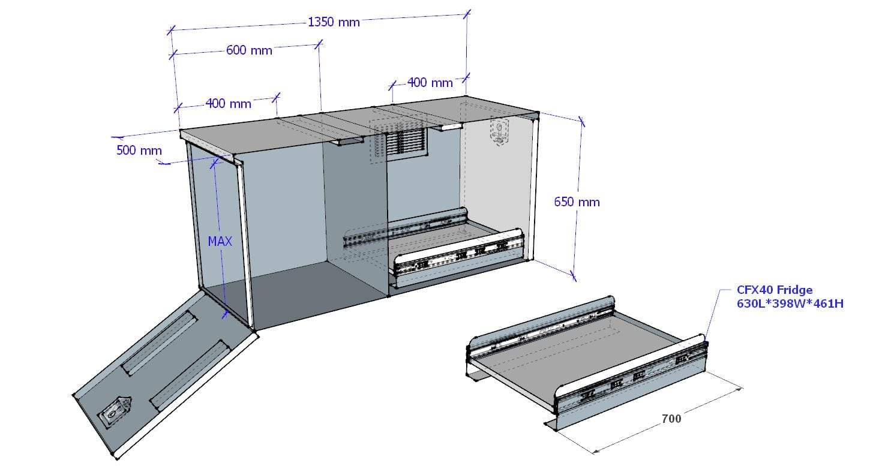 (COFS 56) MW Caravan Box with slide (Charcoal)-3